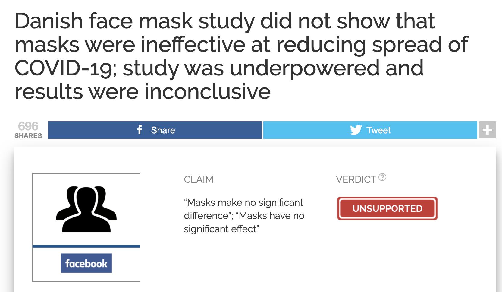 DANMASK fact check