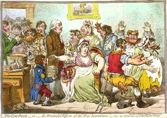 קריקטורה חיסון אבעבועות