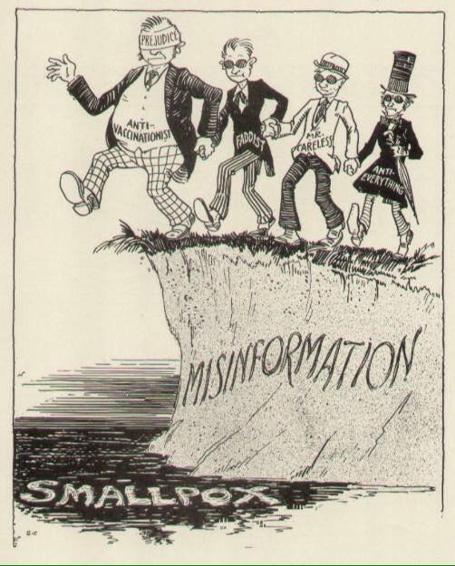 קריקטורה חיסון אבעבועות 1930