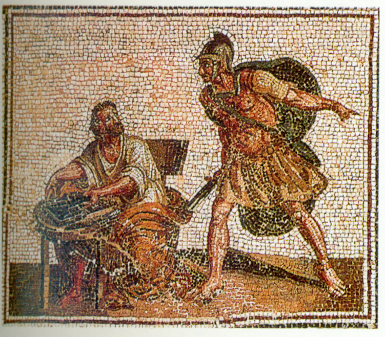 Archimedes_before_his_death_with_the_Roman_soldier,_Roman_mosaic