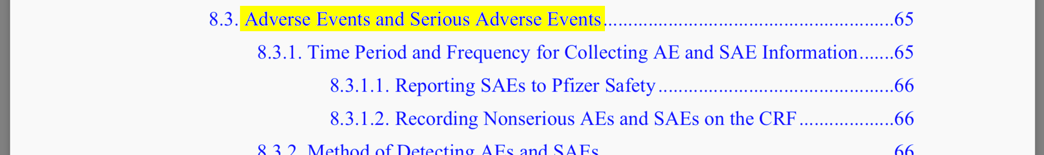 AEs and SAEs