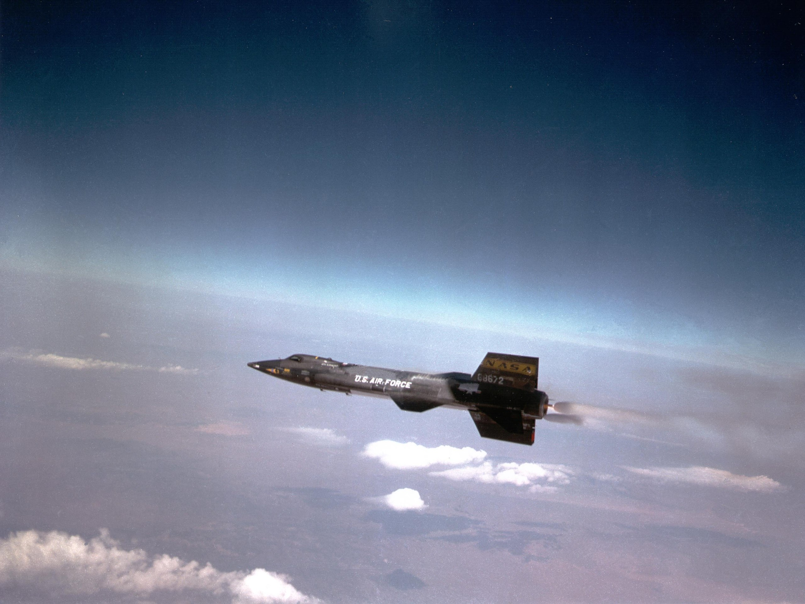 X-15 flying