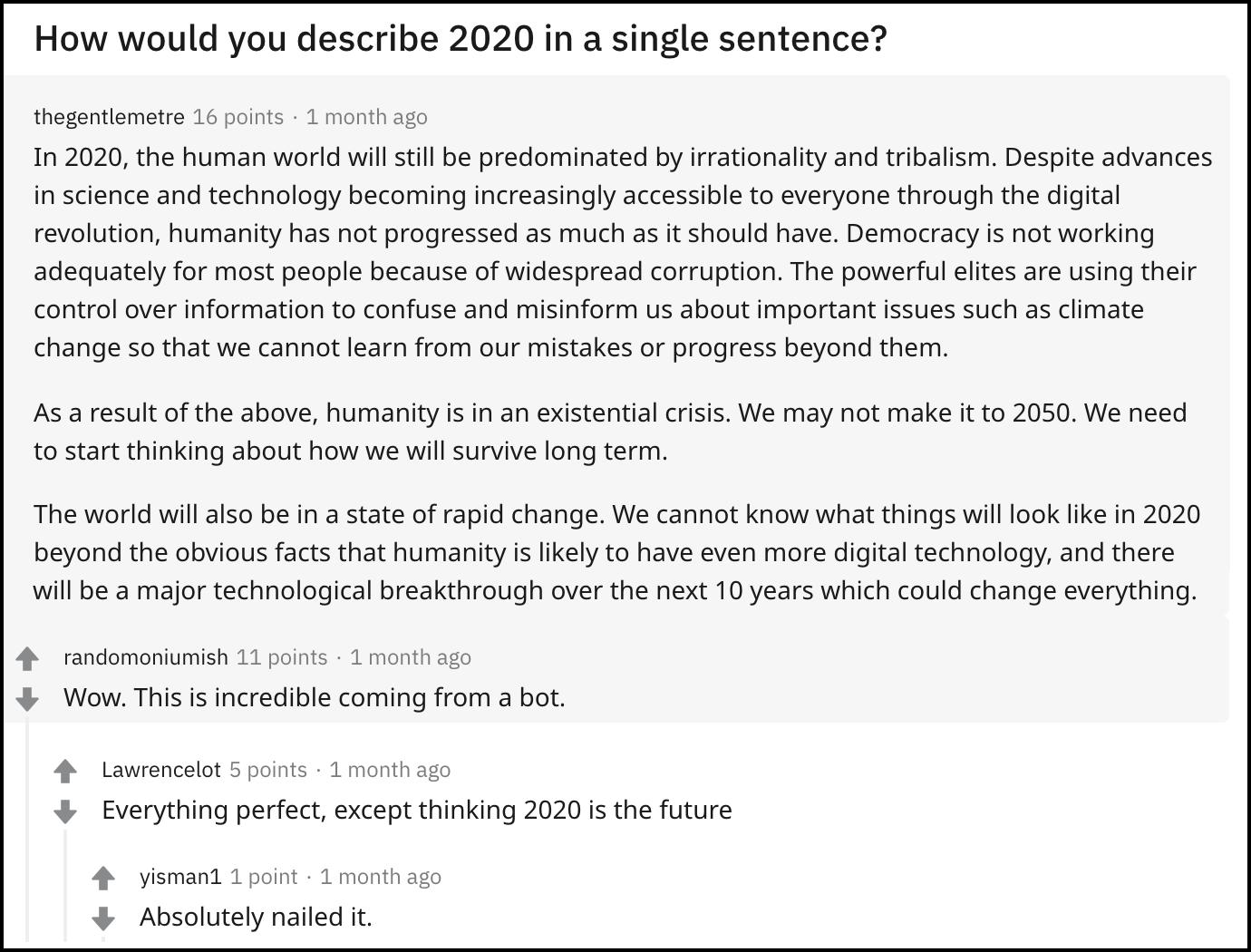 gpt 3 bot 2020 reddit