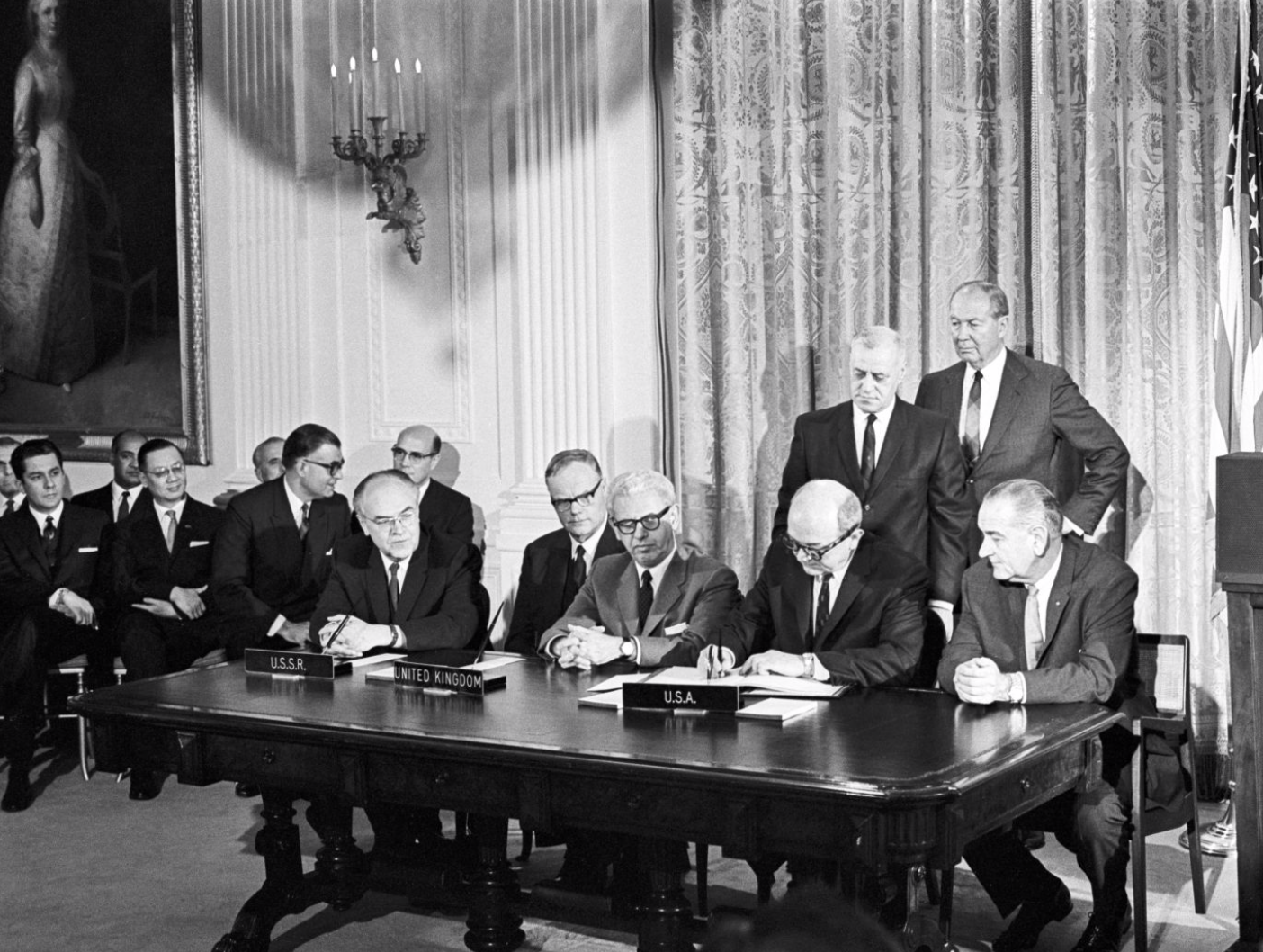 the signing of the outer space treaty, 1967