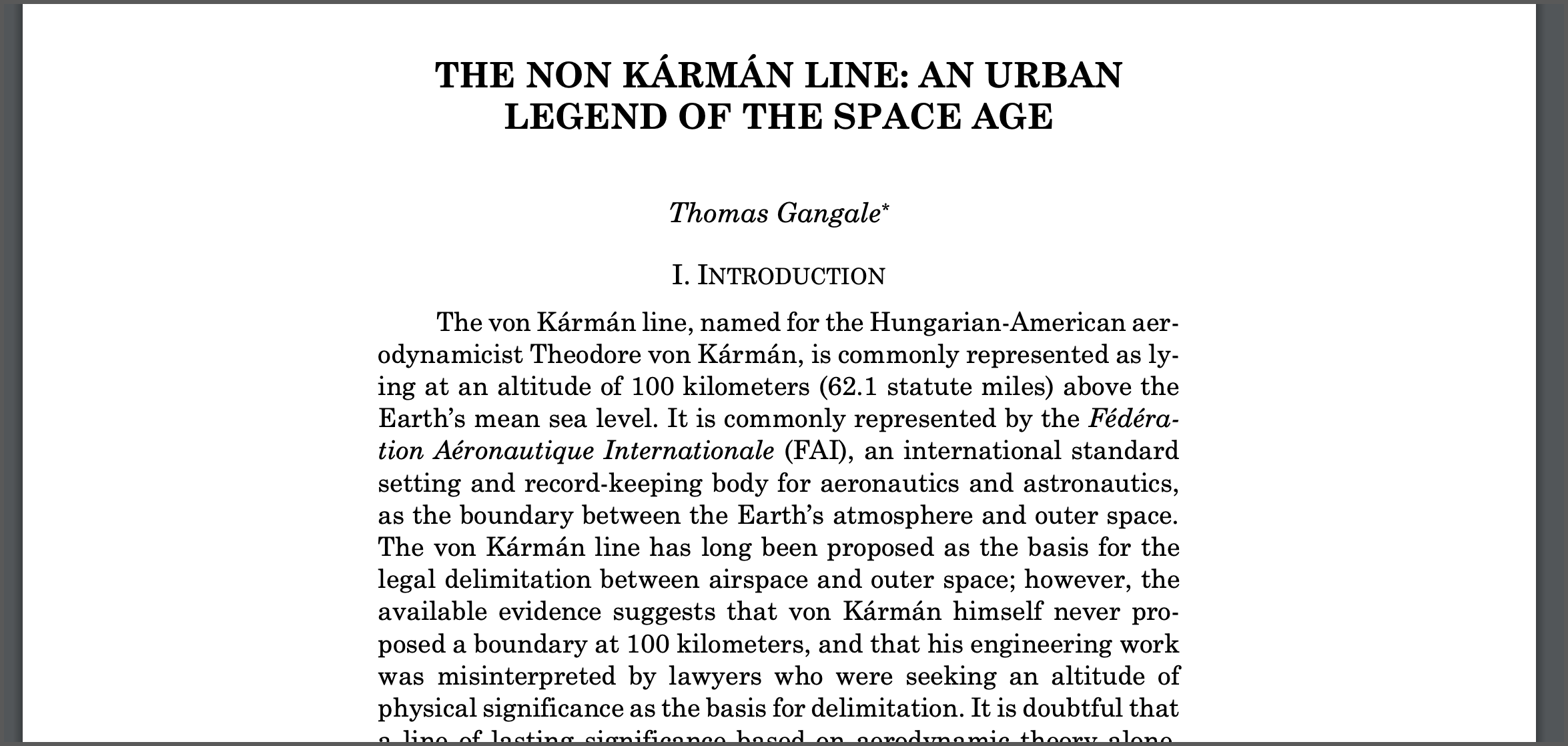 an urban legend of the space age